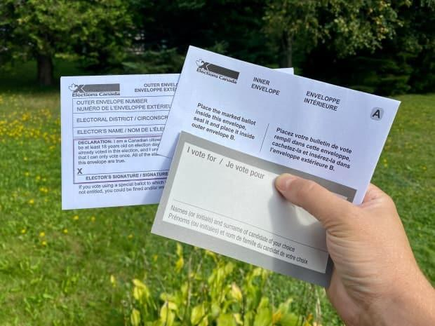 The special ballot can be delivered to the local Elections Canada office or, on election day, to the polling station.  (Jane Robertson/CBC - image credit)