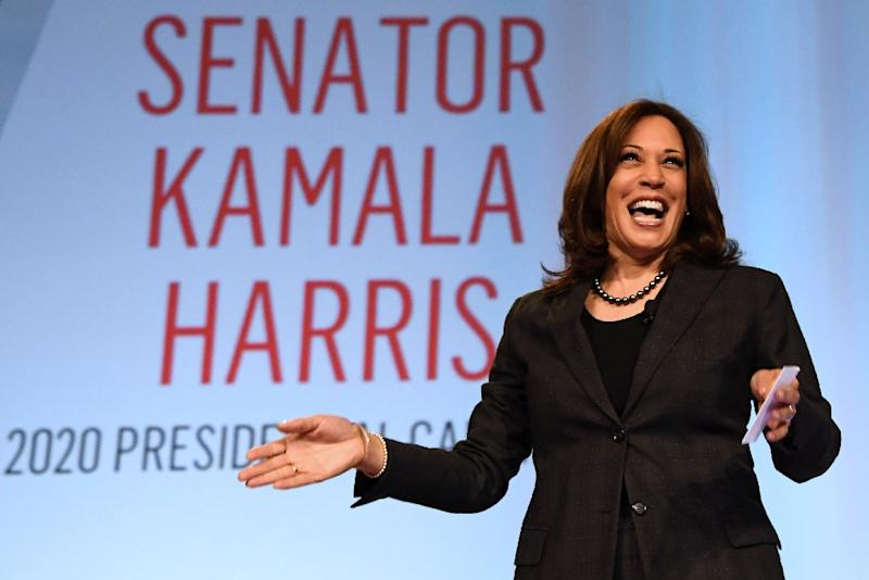 Senator Kamala Harris, a candidate for the Democratic presidential nomination, has signalled support for reparations (AFP Photo/Ethan Miller)