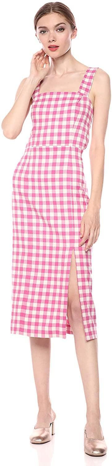 <p>Have a dinner date coming up? Look no further than this <span>FindersKeepers Gigi Gingham Sleeveless Midi Sheath Dress</span> ($105).</p>