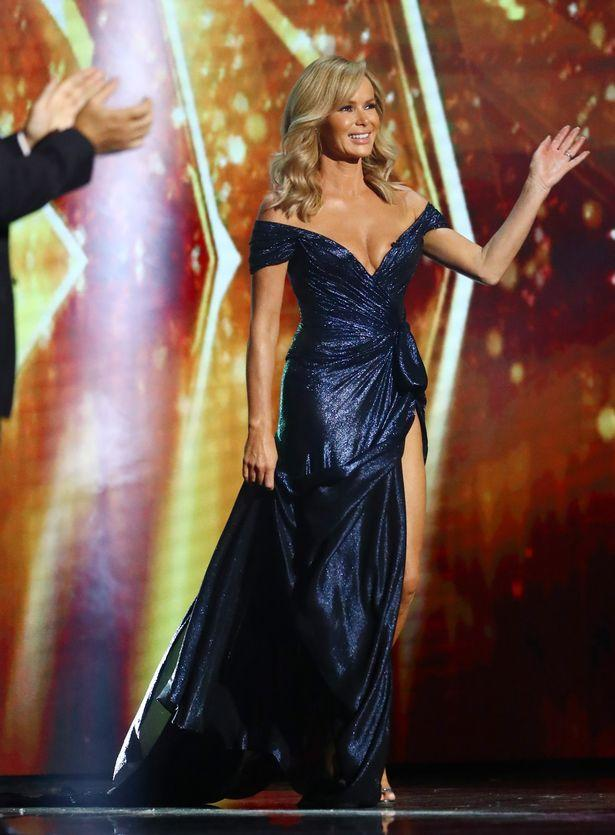 Britain's Got Talent host Amanda Holden's plunging gown sparked over 200 formal complaints. Photo: ITV.