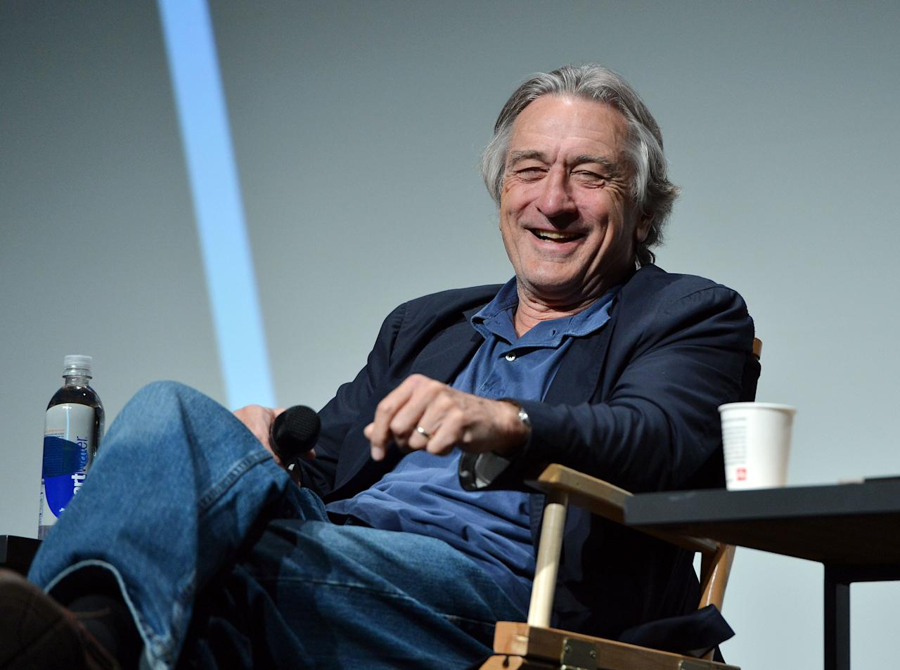 NEW YORK, NY - APRIL 19:  Robert De Niro, Co-Founder Tribeca Film Festival speaks during the Tribeca Talks Director's Series: 100 Years of Universal during the 2012 Tribeca Film Festival at the Borough of Manhattan Community College on April 19, 2012 in New York City.  (Photo by Slaven Vlasic/Getty Images)