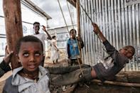 The Mai Aini camp hosts Ethiopians as well as Eritrean refugees uprooted by the ongoing war in the Tigray region