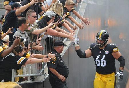 FILE PHOTO: Aug 25, 2018; Pittsburgh, PA, USA; Pittsburgh Steelersguard David DeCastro (66) takes the field to play the Tennessee Titans at Heinz Field. Mandatory Credit: Philip G. Pavely-USA TODAY Sports/File Photo