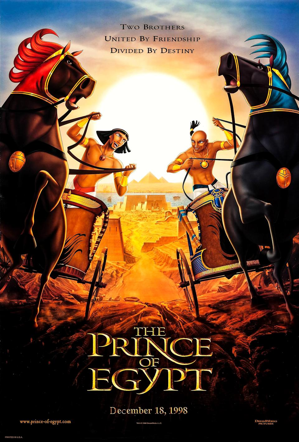 A poster for DreamWorks' 1998 animated film The Prince of Egypt. (DreamWorks)