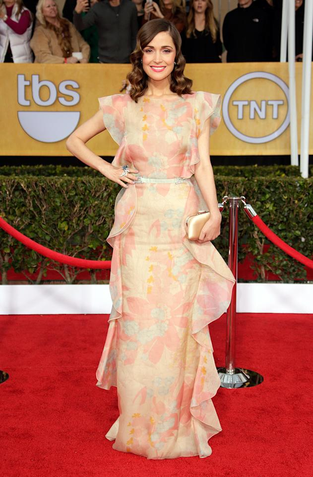 Rose Byrne arrives at the 19th Annual Screen Actors Guild Awards at the Shrine Auditorium in Los Angeles, CA on January 27, 2013.