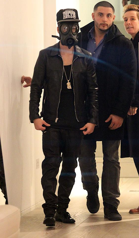 LONDON, ENGLAND - FEBRUARY 25:  Justin Bieber seen shopping at ACNE on Dover St on February 25, 2013 in London, England.  (Photo by Neil Mockford/FilmMagic)