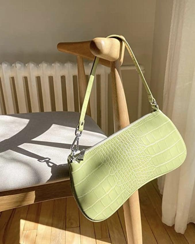 <p>This <span>JW PEI 90s Shoulder Bag</span> ($31, originally $37) will be my way of holding onto summer in the fall. The pop of green is visually refreshing, and the croc skin gives it a luxe and texture look. Get it while it's on sale.</p>