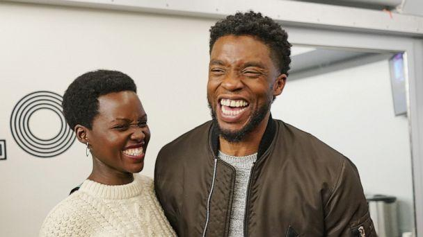 PHOTO: Lupita Nyong'o and Chadwick Boseman backstage at The Apollo Theater on Feb. 27, 2018 in New York City. (Shahar Azran/WireImage/Getty Images, FILE)