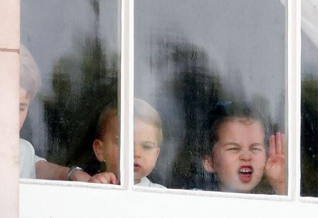 <p>During the annual Trooping the Colour, the Queen's annual birthday parade, Charlotte appears to be eager for a better look at the festivities as she watches with her brothers. (It almost looks like she's practicing her royal wave, too.)<br></p>