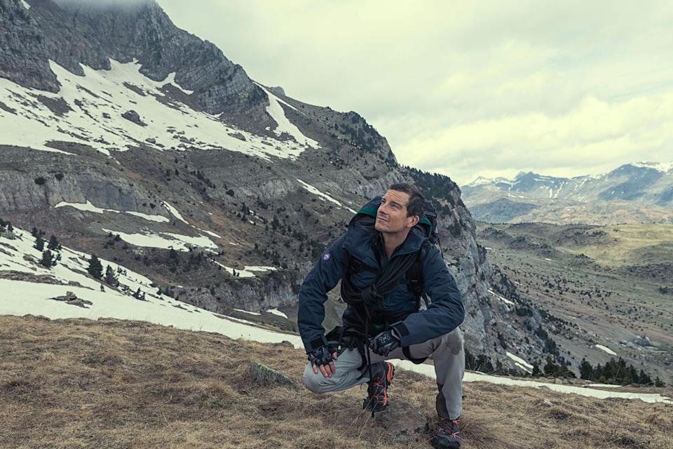 """RUNNING WILD WITH BEAR GRYLLS -- """"Uzo Aduba"""" Episode 404 -- Pictured: Bear Grylls -- (Photo by: Ben Simms/NBC/NBCU Photo Bank via Getty Images)"""