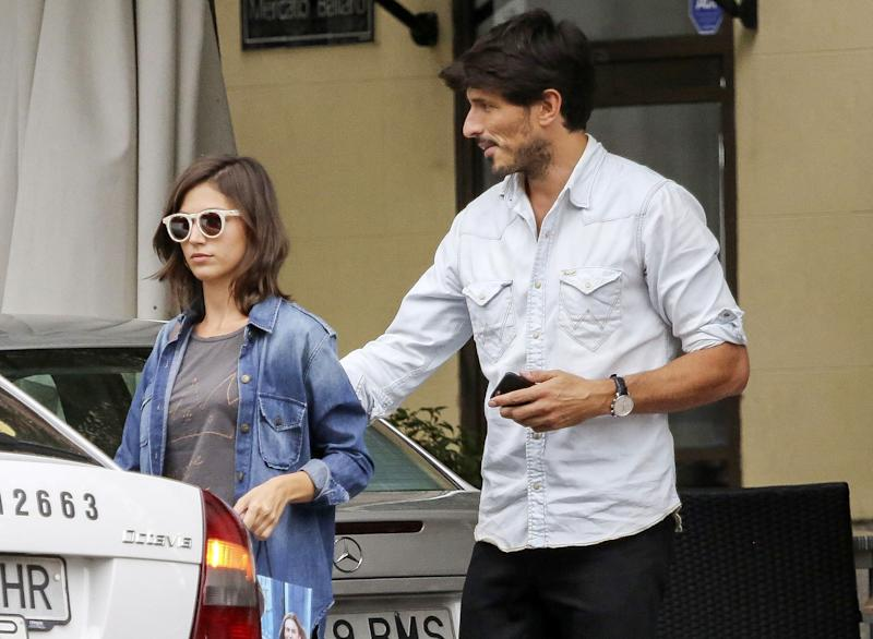 Andres Velencoso and Ursula Corbero are seen on September 15, 2015 in Madrid, Spain.