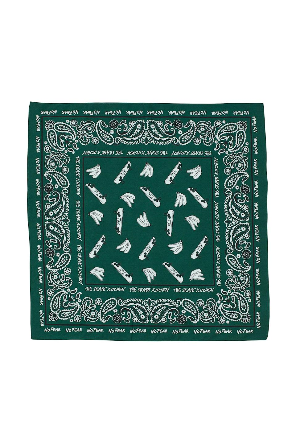 <p>This <span>No Fear x H&amp;M Patterned Cotton Scarf</span> ($8) is so versatile. It also comes in brown.</p>