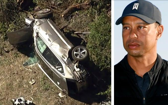 Extensive damage to Tiger Woods' SUV - AP