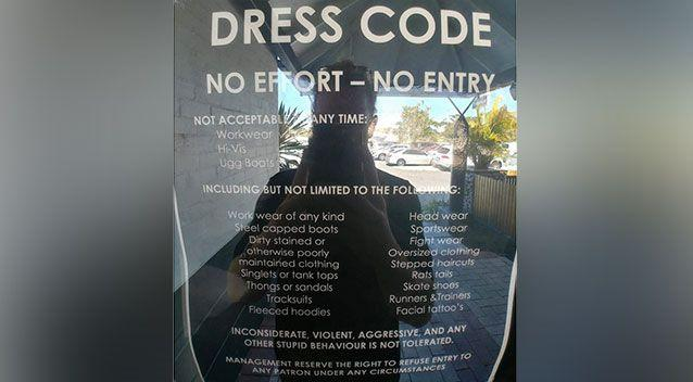 No stepped haircuts, sandals': Pub's 20 point dress code