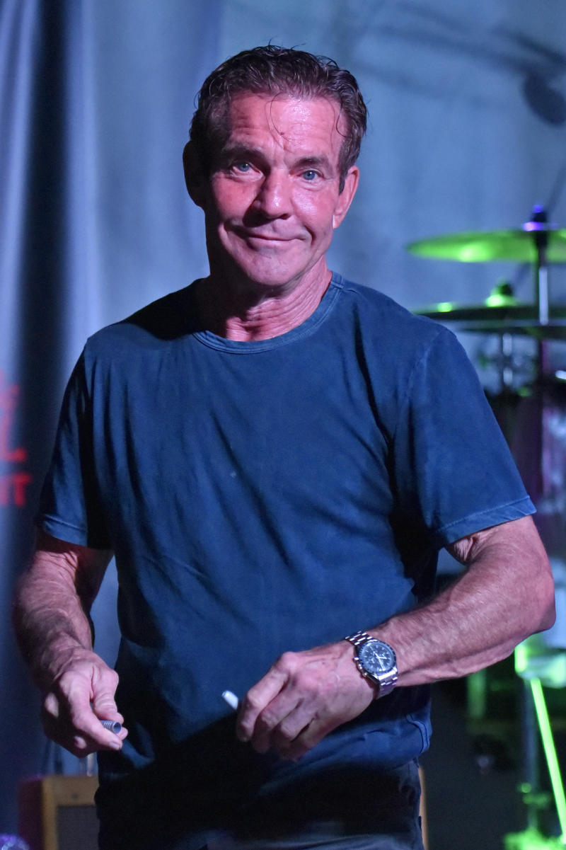 Dennis Quaid performs at the after party for the Brent Sopel Annual Celebrity Golf Tournament at the Quarry Pub & Grill on Wednesday Oct 2, 2019, in Chicago. (Photo by Rob Grabowski/Invision/AP)