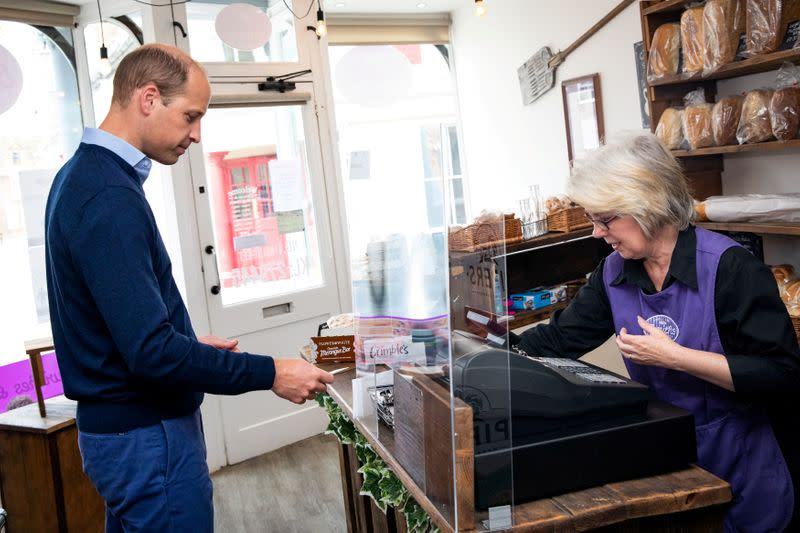 FILE PHOTO: Britain?s William, Duke of Cambridge visits Smiths the Bakers in King's Lynn, Norfolk