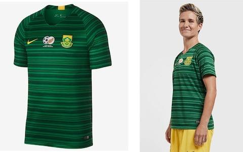 South Africa away kit, 2019 Women's World Cup - Credit: NIKE