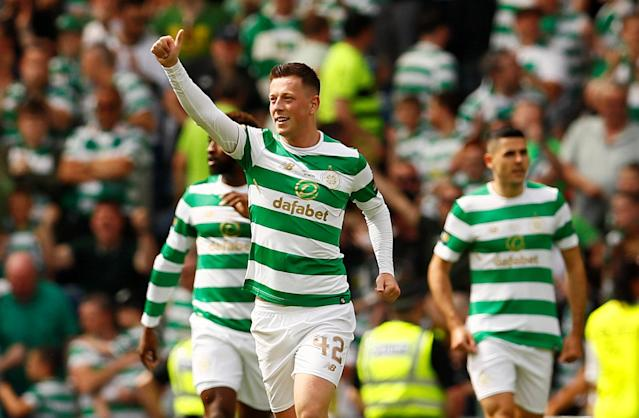Soccer Football - Scottish Cup Final - Celtic vs Motherwell - Hampden Park, Glasgow, Britain - May 19, 2018 Celtic's Callum McGregor celebrates scoring their first goal Action Images via Reuters/Jason Cairnduff