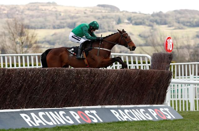 Horse Racing - Cheltenham Festival - Cheltenham Racecourse, Cheltenham, Britain - March 13, 2018 Footpad ridden by Ruby Walsh before winning the 14:10 Racing Post Arkle Challenge Trophy Novices' Chase Action Images via Reuters/Andrew Boyers