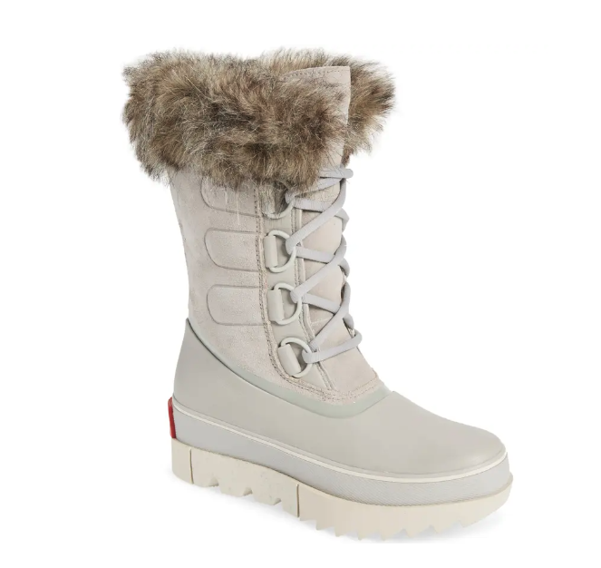 Sorel Joan of Arctic Next Faux Fur Waterproof Snow Boot. Image via Nordstrom.