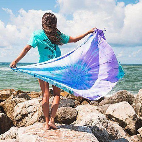 The Sand Cloud Luna Beach Towel uses a sand-resistant design to keep the beach at the beach — not with you when you leave. (Photo: Amazon)
