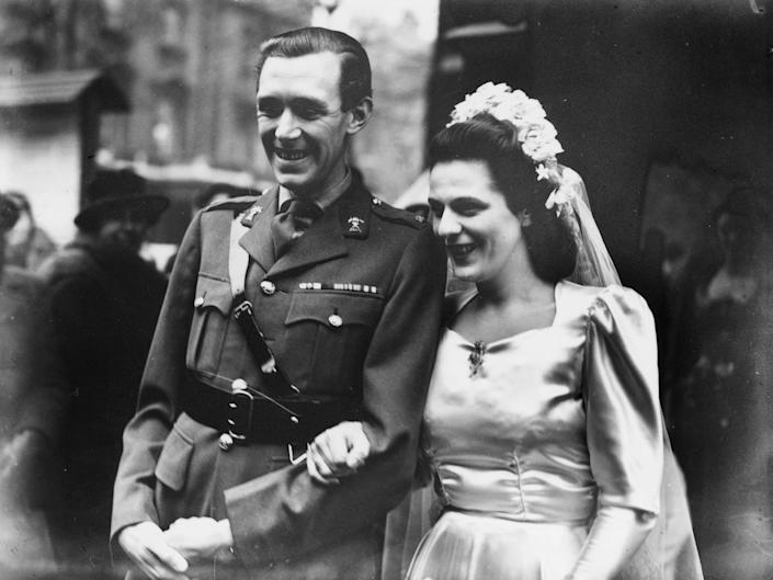 Camilla, Duchess of Cornwall's parents on their wedding day