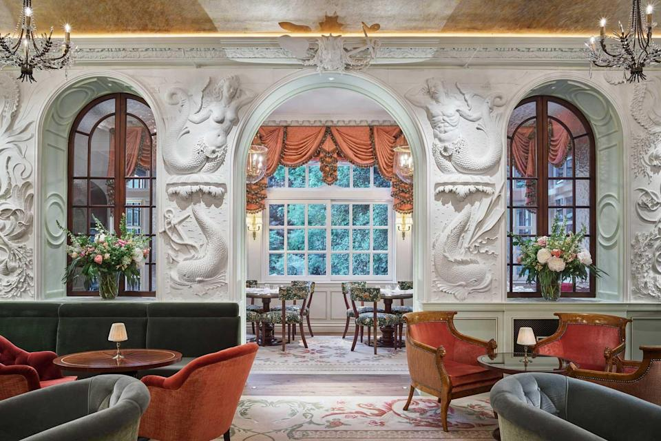 Bar at The Goring hotel, voted one of the best hotels in the world