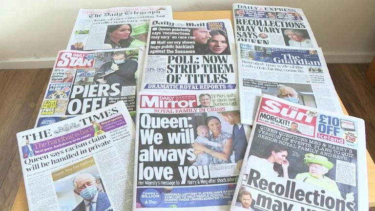 Queen's response to racism claim makes UK front pages