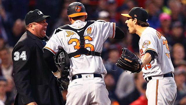 Kevin Gausman had his start Wednesday cut short because umpire Sam Holbrook was clueless about pitcher intent.