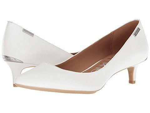 """Get them at <a href=""""https://www.zappos.com/p/calvin-klein-gabrianna-platinum-white/product/8613103/color/644310"""" target=""""_blank"""">Zappos</a> for $99."""