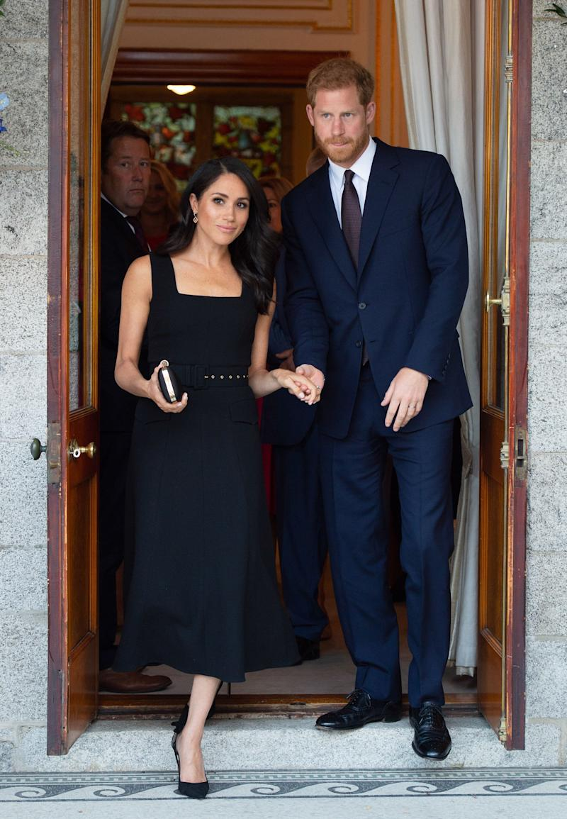 The Duke and Duchess of Sussex attend a Summer Party at the British ambassador's residence at Glencairn House on July 10 in Dublin, Ireland.