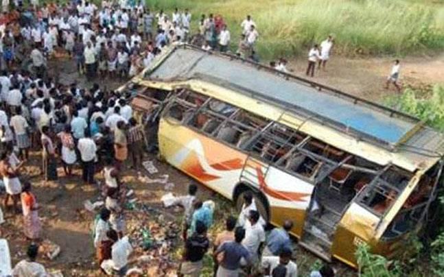 Andhra Pradesh: Over a dozen injured in separate bus accidents