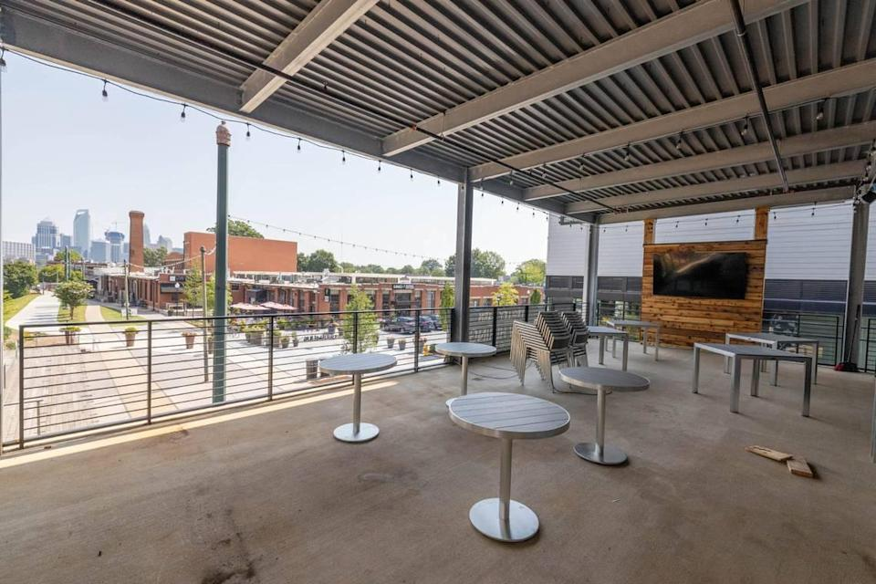 The Trolley Barn's second story mezzanine offers an uptown view.