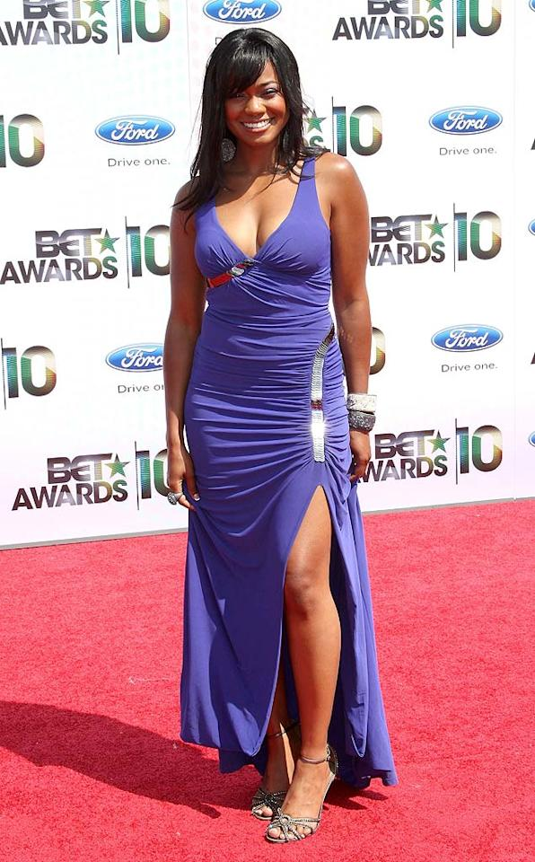 """Former """"Fresh Prince of Bel Air"""" cutie Tatyana Ali is all grown up! The 31-year-old starlet rocked a low-cut purple gown with silver sequin embellishments and a straightened 'do. Is she hot ... or not? Frederick M. Brown/<a href=""""http://www.gettyimages.com/"""" target=""""new"""">GettyImages.com</a> - June 27, 2010"""