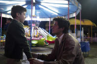 """This image released by Sony Pictures Classics shows Jose Angel Garrido, left, and Armando Espitia in a scene from """"I Carry You With Me."""" (Alejandro Lopez Pineda/Sony Pictures Classics via AP)"""