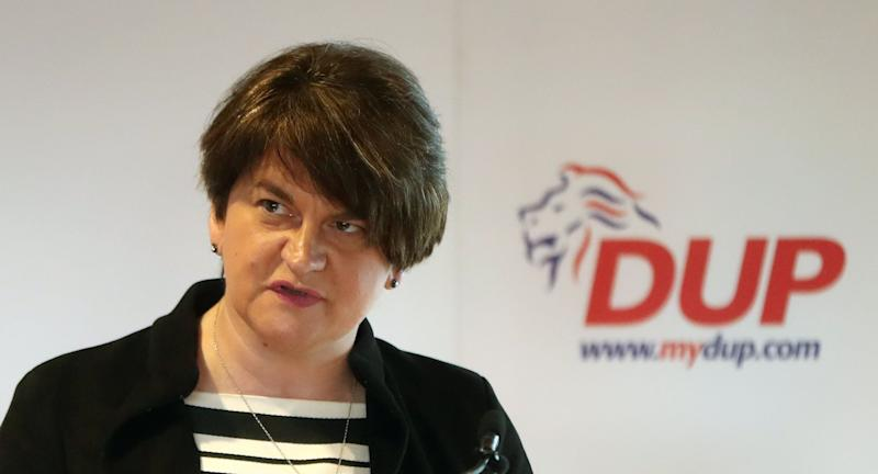 DUP leader Arlene Foster at the launch of the party's manifesto for the European election in Belfast (Picture: PA)