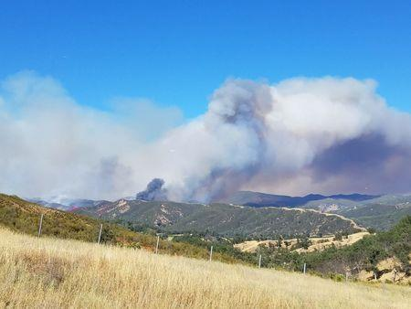 FILE PHOTO: The Pawnee Fire, which broke out on Saturday, in Northern California.