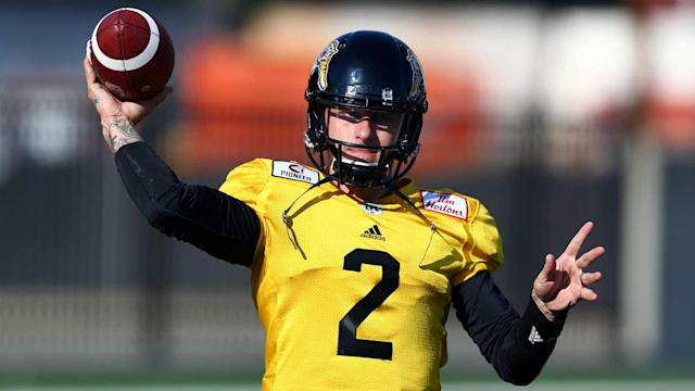 Johnny Manziel showed flashes of his old football self in his CFL debut, as he had to contend with repeated trash talk.