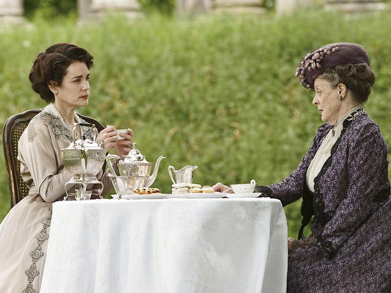 Elizabeth McGovern as Cora Crawley and Maggie Smith as Dowager Countess in Downton Abbey. (Photo: PBS)