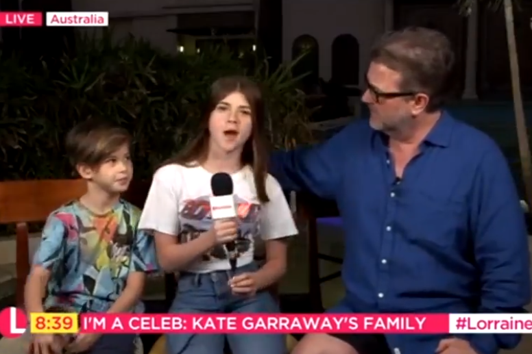 Garraway's family appeared on Lorraine to share support for her during I'm A Celebrity... Get Me Out Of Here! (ITV)