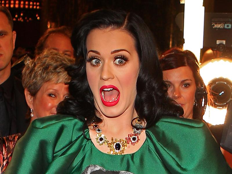 katy perry unhappy shocked scared mouth