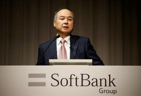 FILE PHOTO: SoftBank Group Corp Chairman and CEO Son attends a news conference in Tokyo