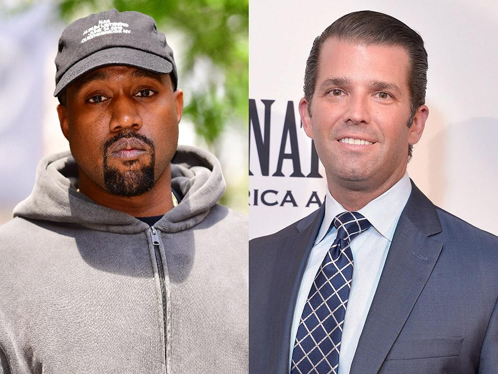 Kanye West and Donald Trump Jr. (Photo: Getty Images)