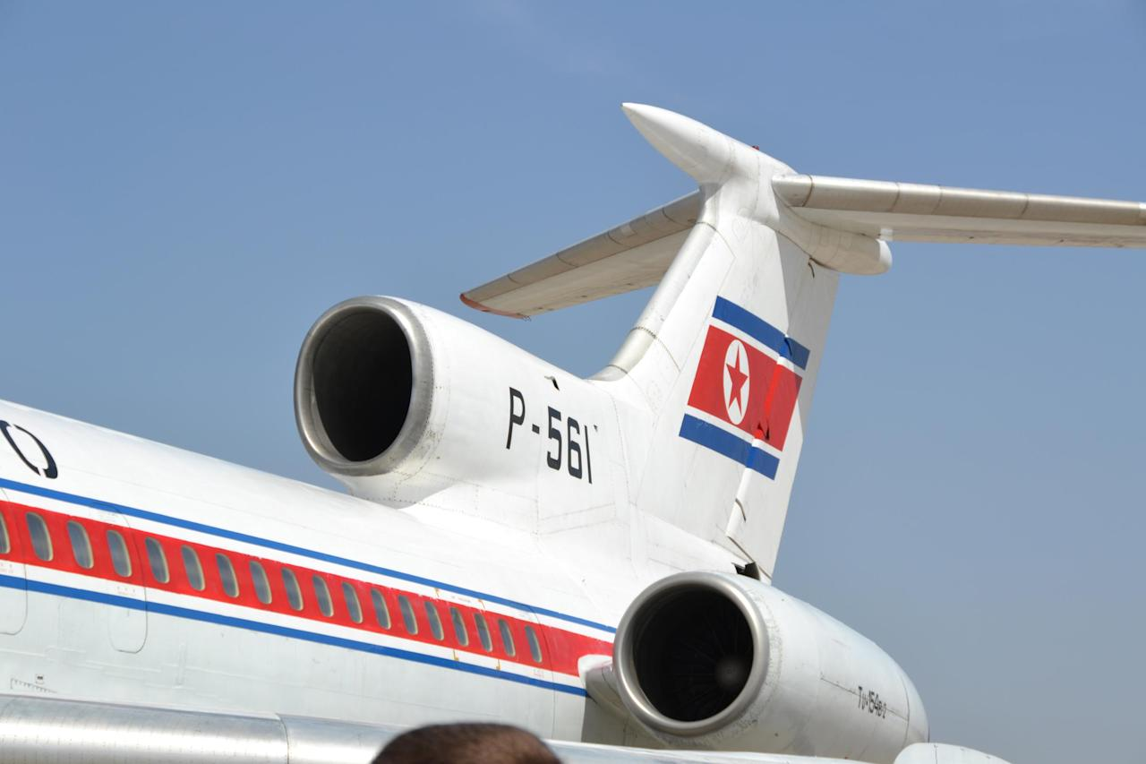 Our tour group departs Beijing with Air Koryo, North Korea's national carrier. The Soviet-made Tupolev airliner, dating from the 1970s, has been repainted with what looks like house paint. There are splashes of it on the windows.