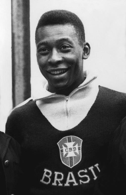 Pele in June 1962 in Vina del Mar, Chile, a few days before a World Cup quarter final soccer match between Brazil and England