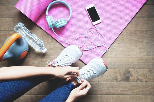 """<span class=""""caption"""">Social media often had a positive influence.</span> <span class=""""attribution""""><a class=""""link rapid-noclick-resp"""" href=""""https://www.shutterstock.com/image-photo/sport-healthy-woman-tying-her-shoes-1085127371"""" rel=""""nofollow noopener"""" target=""""_blank"""" data-ylk=""""slk:SUPREEYA-ANON/ Shutterstock"""">SUPREEYA-ANON/ Shutterstock</a></span>"""