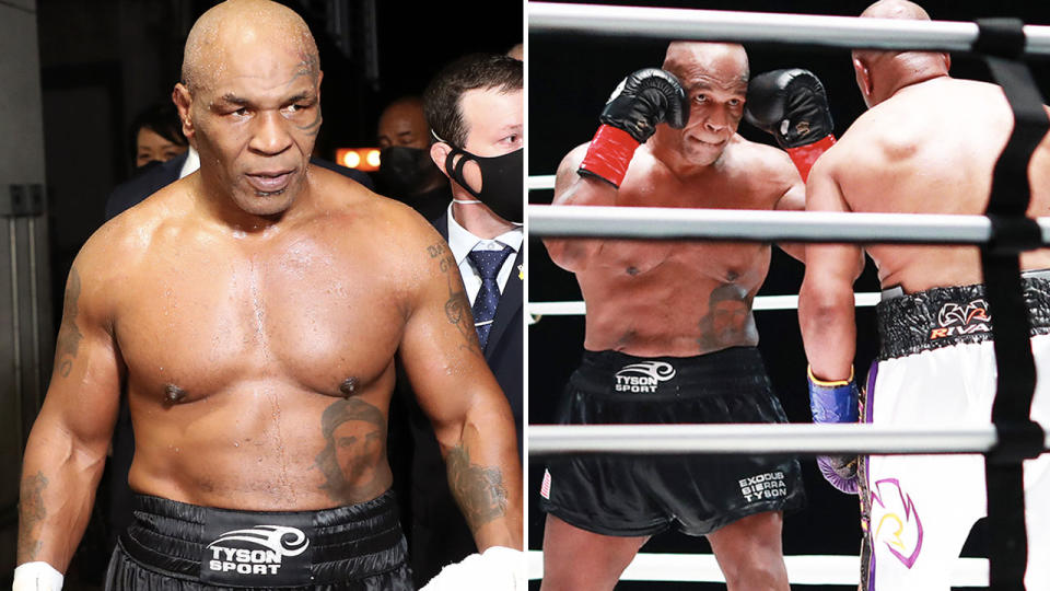 Mike Tyson, pictured here in action against Roy Jones Jr.