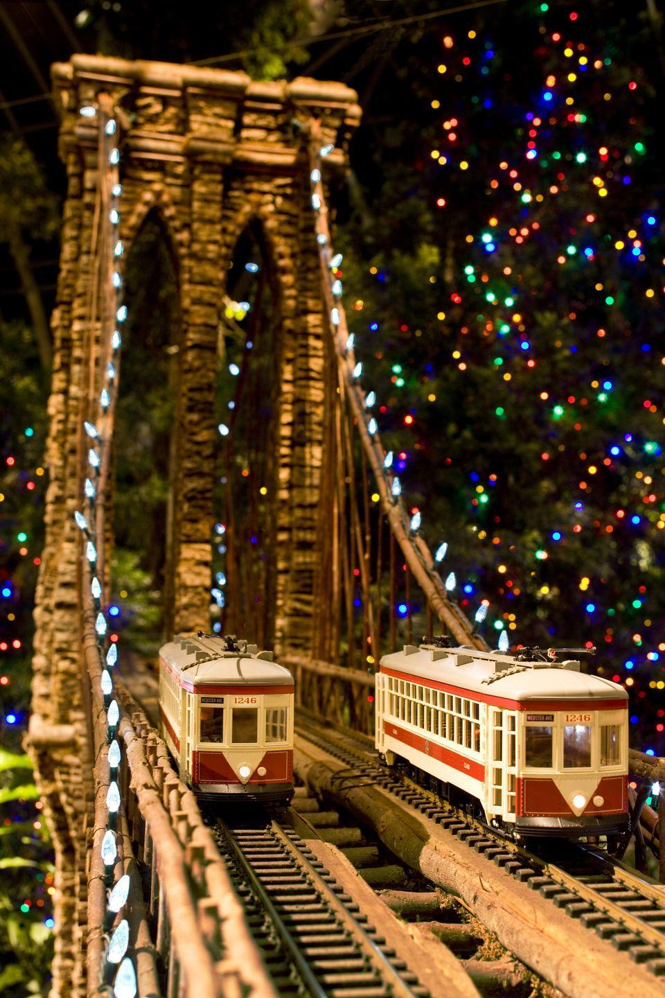 "<p>Kids and adults alike won't want to miss the annual holiday train show at the <a href=""https://www.nybg.org/event/holiday-train-show/"" rel=""nofollow noopener"" target=""_blank"" data-ylk=""slk:New York Botanical Garden"" class=""link rapid-noclick-resp"">New York Botanical Garden</a>, which runs from November to late January. (This year, the event is limited to members and Bronx community partners.) After marveling at the magical display of toy trains, be sure to check out the <a href=""https://www.nybg.org/event/nybg-glow/"" rel=""nofollow noopener"" target=""_blank"" data-ylk=""slk:&quot;NYBG GLOW&quot; event"" class=""link rapid-noclick-resp"">""NYBG GLOW"" event</a>, an all-new outdoor experience for the holiday.</p>"