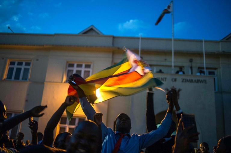 Scenes of jubilation erupted everywhere, with people dancing in the streets and cheering over the resignation of Zimbabwe's strongman
