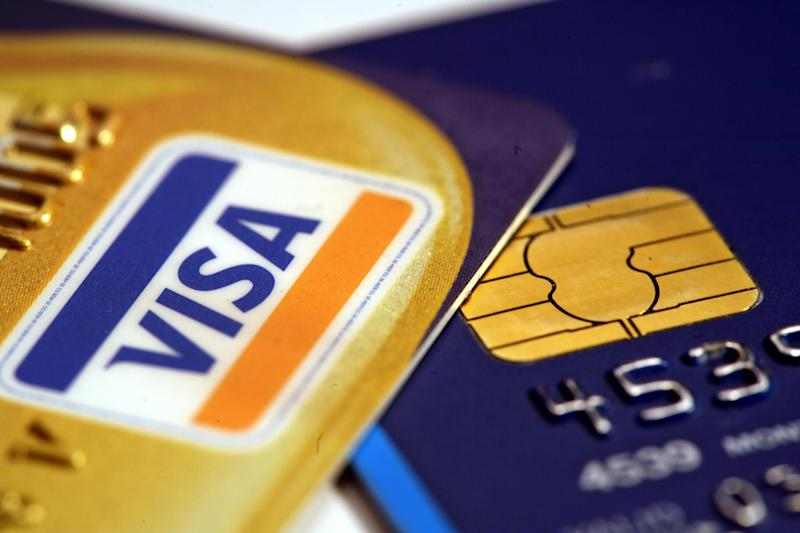 Visa payment cards. Photo: Martin Keene/PA Archive/PA Images